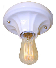 White Porcelain Art Deco Light