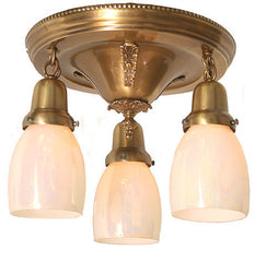 Antique Brass Edwardian Flush Mount Light