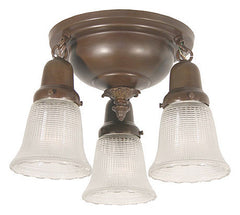 Handmade Brown Patina Flush Mount Lighting