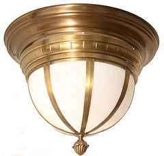 Antique Brass Milk Glass Lighting