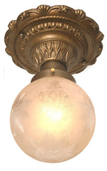 Antique Hallway Light Etched Shade