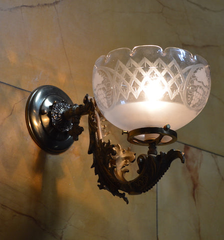 Cornelius wall lights antique 1850