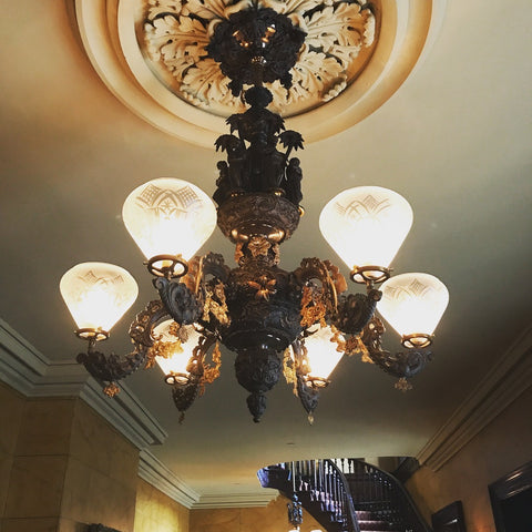 Cornelius gas light chandelier