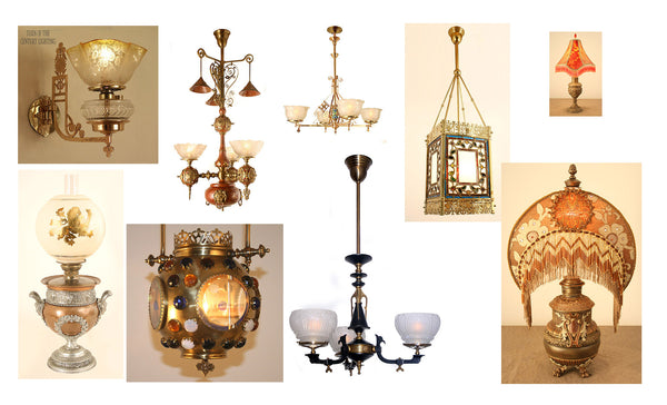 Victorian Gas Antique Lighting