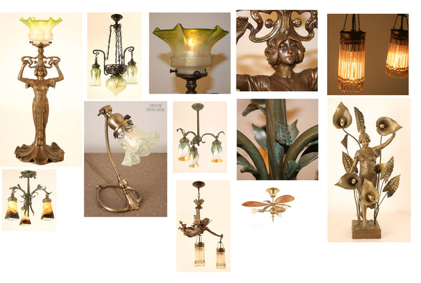 Art Nouveau Antique Lighting