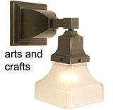 mission arts crafts wall sconce light