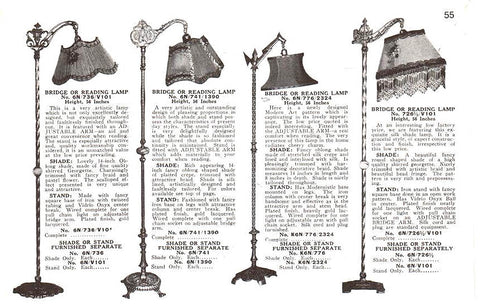 antique bridge light 1920s catalog image