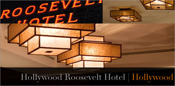custom lights for hollywood roosevelt in los angeles
