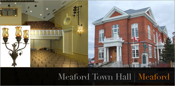 custom chandelier wall lights for meaford town hall