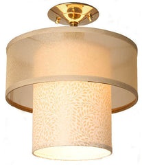 brass organza lampshade closemount light