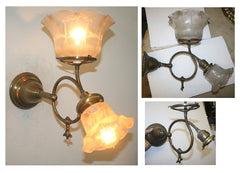 restored art nouveau gas electric wall sconce