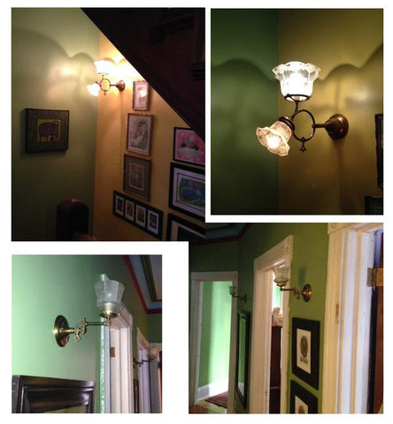 client photos antique wall lighting gas