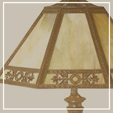restored antique and vintage table lamps and desk lamps