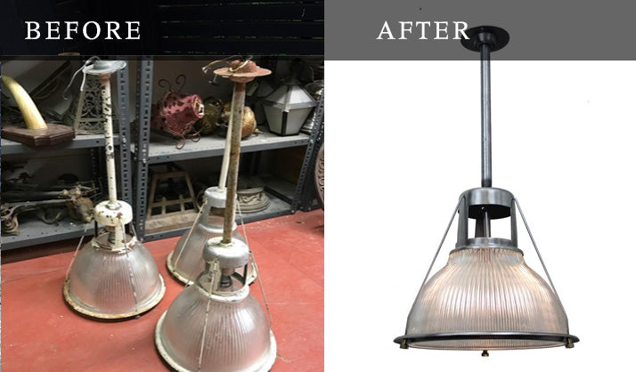 restoration of holophane lighting