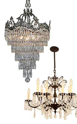 restore and rewire crystal chandeliers