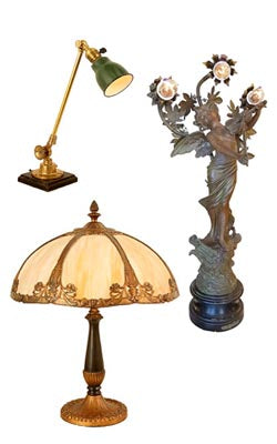 rewire and restore table lamps and figural lamps