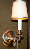custom wall sconce lighting traditional clip on shade