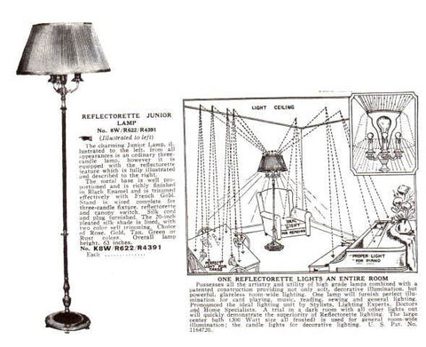 antique floor lamp catalog image