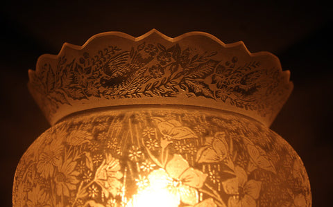 Antique Acid Etched Floral Crown Top Shade