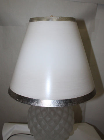 Antique Circa, 1930, Art Deco Pineapple Table Lamp With A Handmade Lampshade