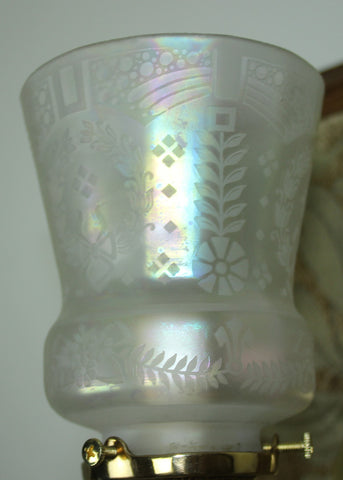 Acid Etched Floral and Wreath Motif Shade