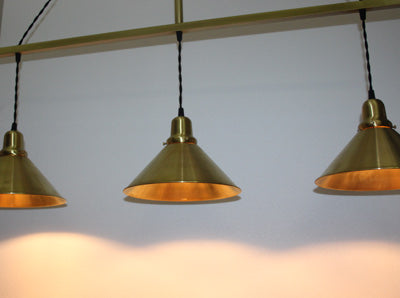 "Handcrafted ""Ambassador"" 3 Light Pendant Light"