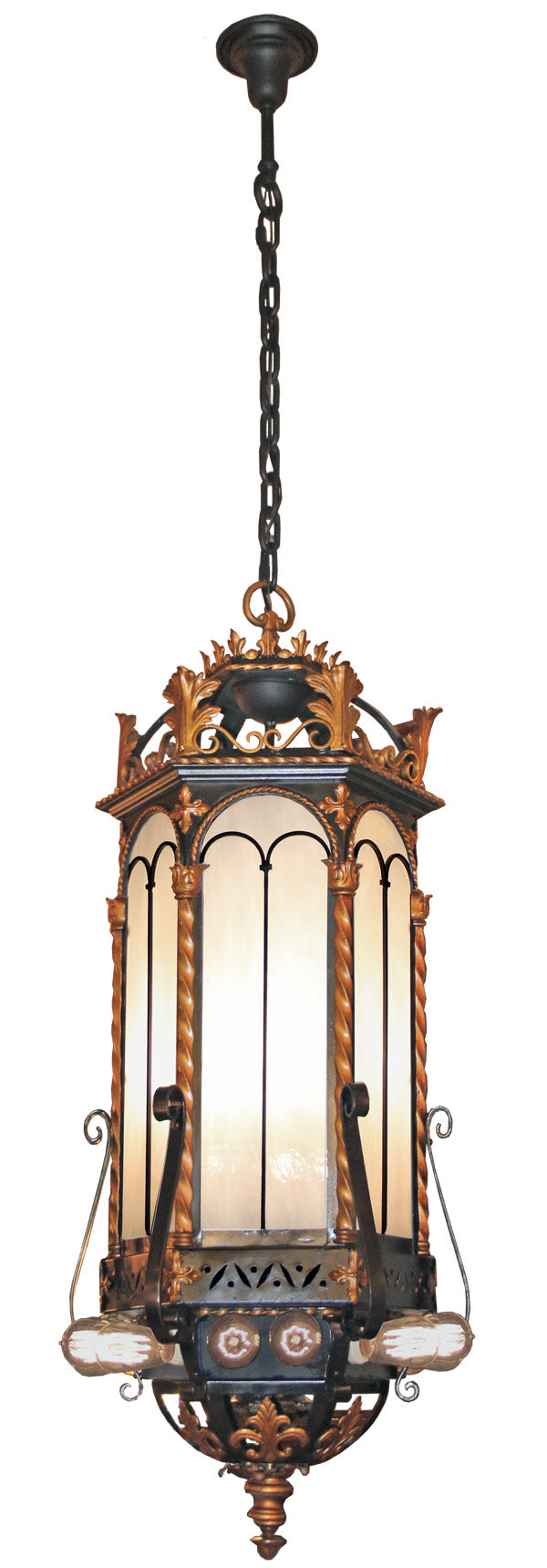 Outstanding Antique Circa 1910-20s Era Commercial Beaux Arts Lantern