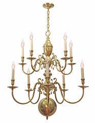 Antique Circa 1940 Two Tiered Williamsburg Chandelier