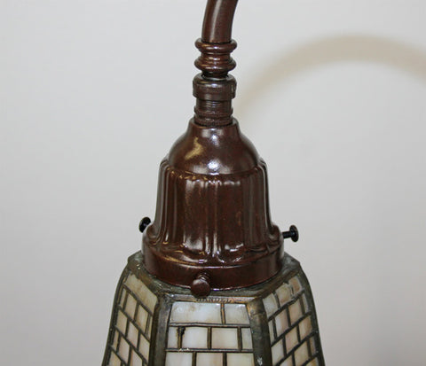 Antique Circa 1905 Art Nouveau Arts and Crafts Table Lamp Fitted With A Signed Handel Shade