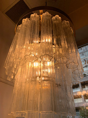 Grand Vintage 1960s Murano Tronchi Wedding Cake Chandelier