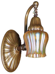 $1700 PAIR Antique Circa 1910 Steuben Art Glass Shefflied Shades on Embossed Sheffield Sconces