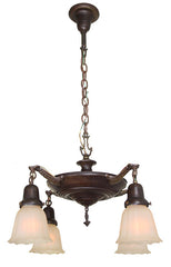 Antique Circa 1920 Four Light NeoClassical Influenced Pan Light