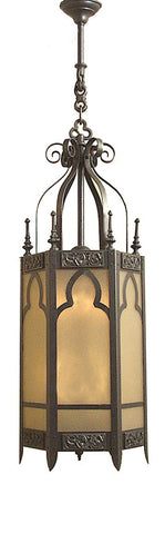 Antique Circa 1920 Five Sided Gothic Revival Lantern