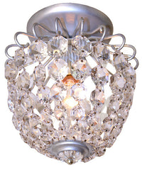 Antique Circa 1960, Single Light, Schonbeck Crystal Close Mount Basket.
