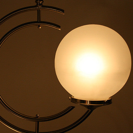 "Handcrafted ""LAKESHORE"" Two Light Double ""C"" Pendant Light"