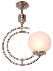 "Handcrafted ""LAKESHORE"" Single Light ""C"" Pendant Fixture."