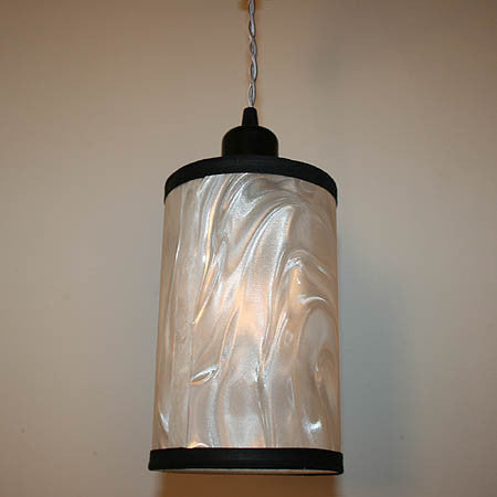 Modern 3 Light Cord Suspended Fixture with Handmade Silver Lanterns