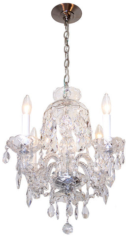 Handmade Contemporary Four Light Crystal Chandelier with High Quality Swarovski and Strass Crystal.