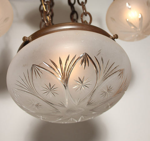 Antique light glass