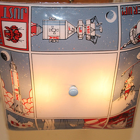 Vintage 1960s Children's Room Astronaut Flush Mount