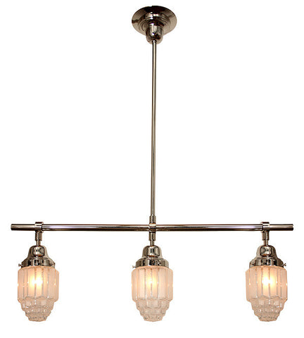Empire 3 Light Art Deco Pendant Light