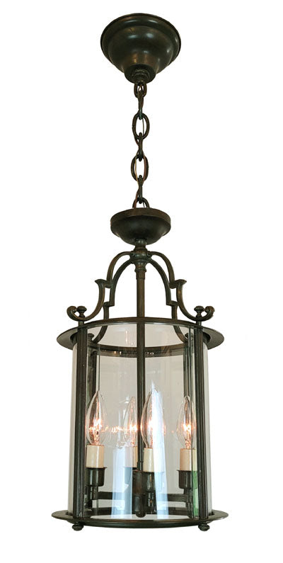 THREE AVAILABLE - Circa 1940s Exterior Colonial Revival Lantern Pendant Fixture.