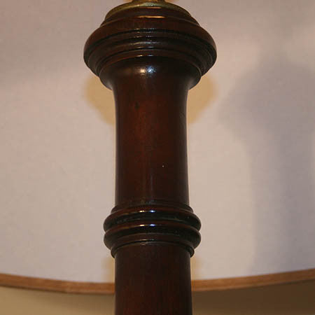Antique Edwardian Circa 1910 Four Footed Wooded Floor Lamp