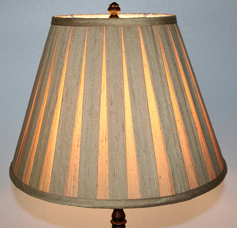 Antique Circa 1915, Three Light, Candle Floor Lamp with Four Footed Base, Rope Details, and Handmade Pleated Silk Lamphade.