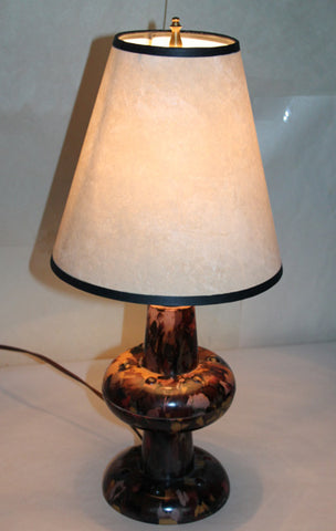 $500 PAIR - Antique Circa 1930, Single Light Pair of Petite Art Deco Bakelite Table Lamps with Handmade Lampshades.