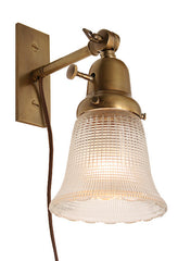 Spadina Single Light, Bookmatched, Adjustable Brass Wall Lights.