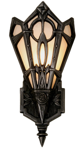 $650 PAIR – Pair of Single Light, Contemporary Zenith Art Deco Wall Sconces with Milk Glass Panels And a Hand Antiqued Aluminum Finish.