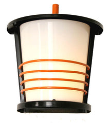 Antique Circa 1950, Single Light, Mid Century Modern Ringed Exterior Milk Glass Wall Sconce.