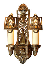 art deco egyptian revival wall lights
