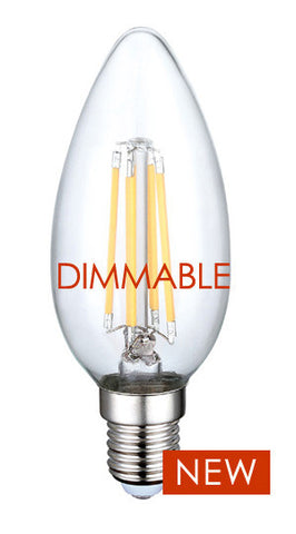 LED Filament Bulb - Candelabra E12 - 5 watts = 60 watt E12 Incandescent Replacement
